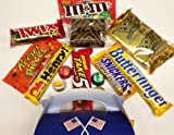 Fathers Day Reese`s, M&M`s, Snickers, Twix, Pop Tarts, Butterfinger, Peanut Butter gift box American sweets by Dolci Di Lechlade