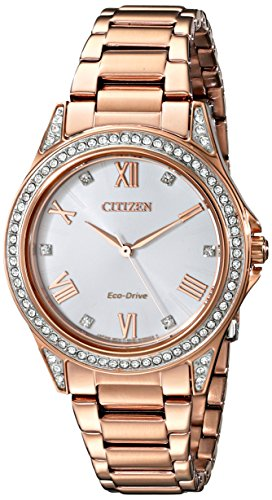 Citizen Eco-Drive Drive POV Stainless Steel - Rose-Gold Women's watch #EM0233-51A