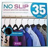 No Slip Space Saving Hangers 35pk, Black