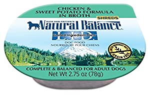 Natural Balance Limited Ingredient Diets Chicken and Sweet Potato Formula in Broth Wet Dog Food, 2.75 oz