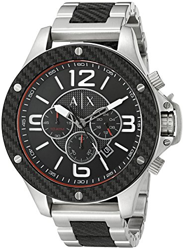 Armani-Exchange-Mens-AX1521-Analog-Display-Analog-Quartz-Black-Watch