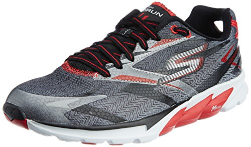 Skechers Go Run 4 Mens Running Shoes Black/Red 9