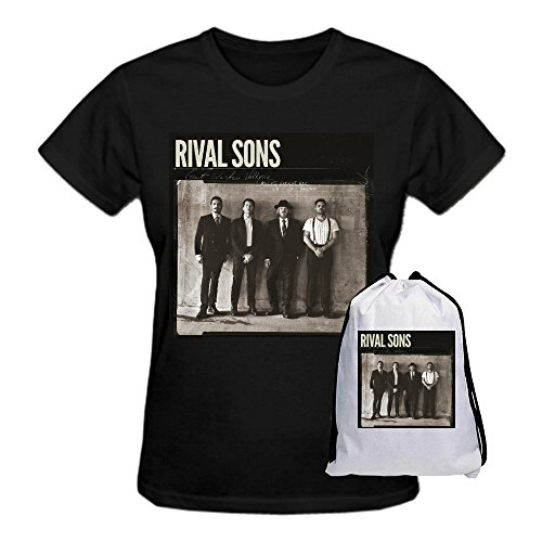 Rival Sons Great Western Valkyrie Summer Loose Crew Neck T-Shirt for XXXX da donna L Black taglia unica