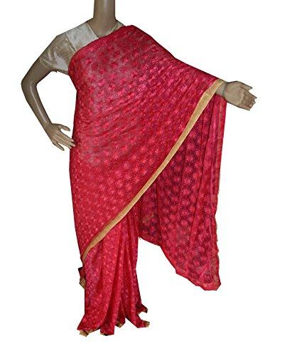 Beautiful RUDA Designer Phulkari Embroidered Saree-JS1125