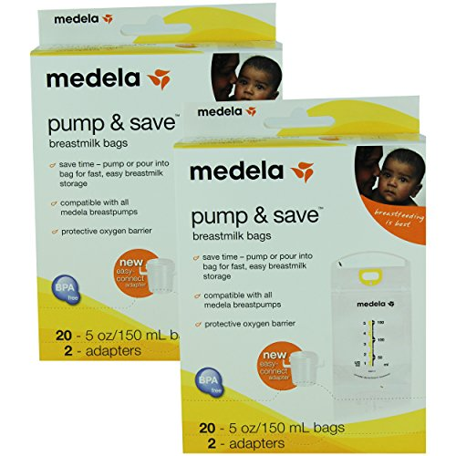 Medela Pump & Save Breastmilk Bags - 20 Pack (Set of 2)