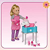 My Life As Dog Grooming Playset With Dog For 18 Dolls, (Doll Not Included)