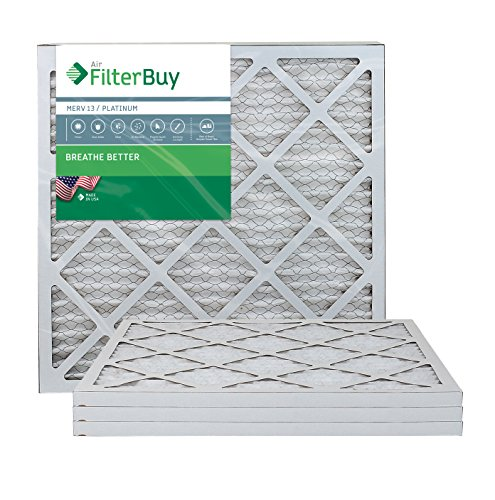 AFB Platinum MERV 13 20x22x1 Pleated AC Furnace Air Filter. Pack of 4 Filters. 100% produced in the USA.
