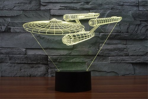 Star Trek Enterprise 3D Illusion 7 color Night Light