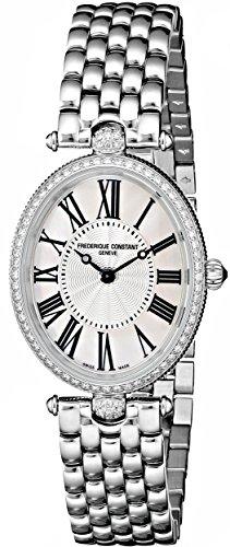 Frederique Constant FC200MPW2VD6B - Reloj para mujeres, correa de acero inoxidable color plateado