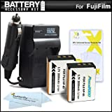 2 Pack Battery And Charger Kit For Fuji Fujifilm FinePix SL1000, SL300, S1 Digital Camera Includes 2 Extended Replacement (200Mah) For Fuji NP-85 Batteries + Ac/Dc Rapid Travel Charger + LCD Screen Protectors + MicroFiber Cleaning Cloth