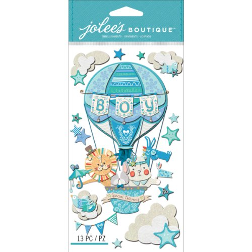 Jolee'S Boutique Dimensional Stickers, Baby Boy Special Delivery