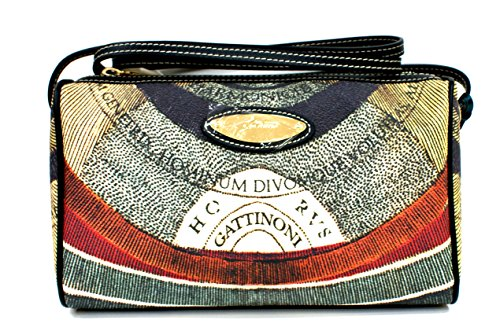 Gattinoni Borsa Donna Tracolla CrossBody Bag Zip Cm 27x16x7 Multicolor