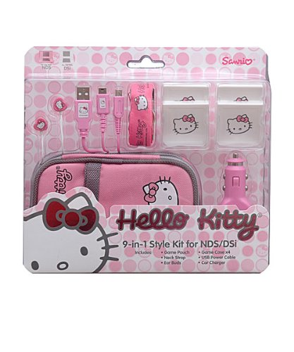 Hello Kitty 9in1 Style Kit for Nintendo DSi and DS