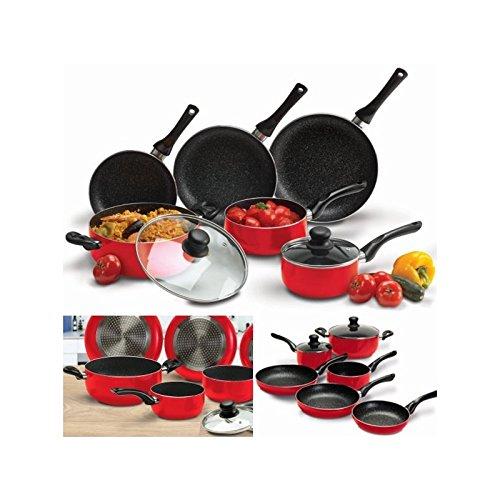 probache-batterie-de-cuisine-8-pcs-pierre-rouge-avec-casserole-poele-couvercle