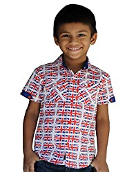 Snowflakes Boys' 2-3 Years Flag Printed Casual Shirt