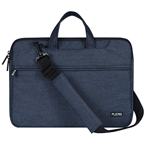 """PLEMO Borsa per PC portatili 13-13.5 Pollici per Laptop / Macbook / Notebook 13.3"""", Tessuto Jeans con Tracolla Sulla Spalla, Blu Jeans"""