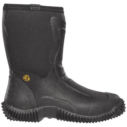 "LaCrosse Boys' Alpha Mudlite 9"" 3.5mm Hunting Boots,Black,12 M US"