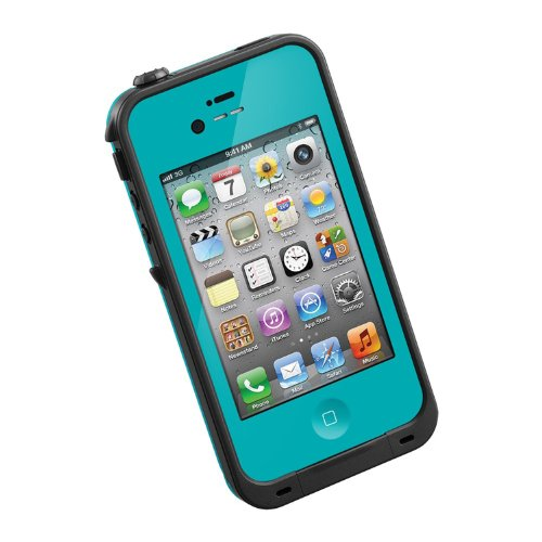 HESGI New Waterproof Shockproof Dirtproof Snowproof Protection Case Cover for Apple Iphone 4 4S Teal (Iphone 4s Energy Case compare prices)