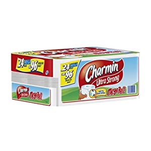Charmin Ultra Strong, Mega Rolls, 4 Count Pack (Pack of 6) 24 Total Rolls  [Amazon Frustration-Free Packaging]