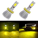 H11 LED Fog Light Bulbs (Yellow) with Strobe Flashing for Car Truck Fog Lamp Replacement,Super Bright 3200LM/3000K