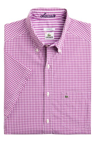 Short Sleeve Gingham Poplin With Contrast Trim