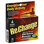 ReCharge Alertness Booster, Maximum Strength, Coated Caplets 18 caplets