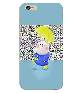PrintDhaba Funny Bunny D-3898 Back Case Cover for APPLE IPHONE 6S (Multi-Coloured)