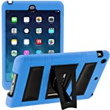 i-Blason Apple iPad Air Case / iPad 5 ArmorBox 2 Layer Convertible [Hybrid] Full-Body Protection KickStand Case with Built-in Screen Protector for Kids Friendly (Blue/Black)