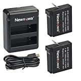Newmowa® 1200mAh Rechargeable Battery (2-Pack) and Rapid Dual Charger for GoPro Hero 4 and GoPro AHDBT-401,AHBPP-401