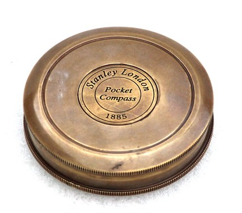 Vintage Style Maritime Collectible Compass Brass Finish 5