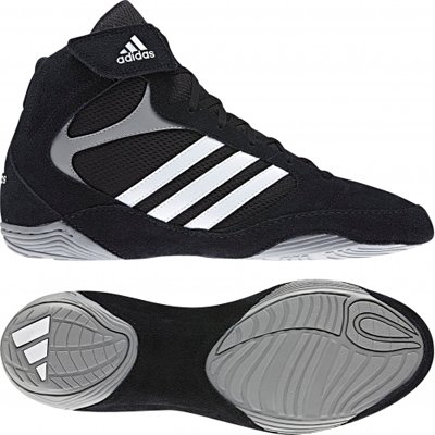 ADIDAS Adult Pretereo 2 Wrestling Boot - Black, Black, UK11