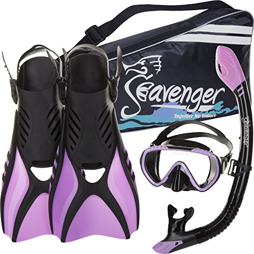 Seavenger Scuba Diving Snorkeling Mask Snorkel Fin Set with Gear
