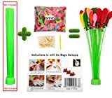 Water Balloons Refill Kit, SYZ Magic Water Bombs Fill Old Straws Quick & Easy, 500 Total Colorful Balloons and Rubber Bands with Filling Tool Kits, Summer Sports Game Toy for Kids Boys & Girls