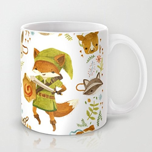 HURKI mammiferi, motivo: The Legend of Zelda-Tazza da caffè, tazza in ceramica, 325 ml