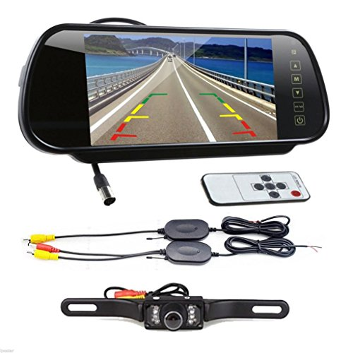oksaler-7-inch-lcd-scree-car-rear-view-backup-mirror-monitor-wireless-reverse-ir-remote-control-came