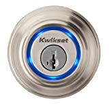 Kwikset 925 Kevo Single Cylinder Bluetooth Enabled Deadbolt for iPhone 4S, 5, 5C & 5S, Satin Nickel