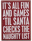 Primitives by Kathy Box Sign, 6 by 8-Inch, Fun and Games