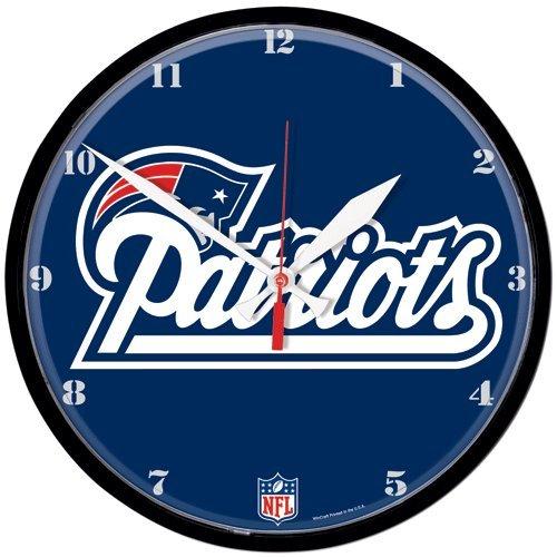 New England Patriots Nfl Round Wall Clock