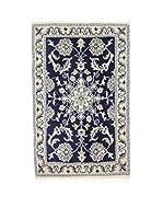L'Eden del Tappeto Alfombra Nain K Beige / Azul 58 x 88 cm
