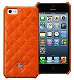 【日本正規代理店品】 JISONCASE 【iPhone5/5s対応本革ケース】 ウォレットケース オレンジ JS-IP5-01G90