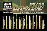 AFV Club de AG35041 - 2 pdr Modelo Accesorios ejército británico conjunto de munición de cobre amarillo