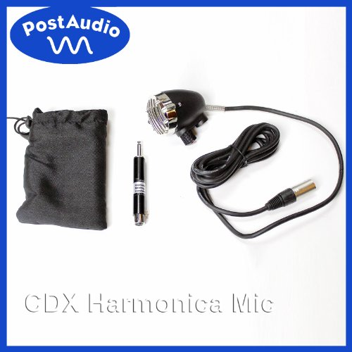 Post Audio Cdx Harmonica Mic With Volume Control, Bag, 1/4 Inch Transformer