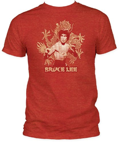 Bruce Lee Dragon Fitted Jersey Mens T-Shirt