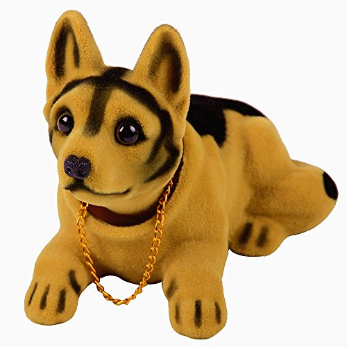 Handmade childhood memory BobbleHead Dogs Car Dash Ornaments for Car Interior Decorations,rocking head dpg made by superior Natura Resin great gift(shepherd) (Resin Shepherd compare prices)