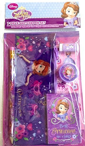 Sofia The First Best Princess In Class 7 Piece Sketchbook Activity Set
