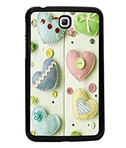 printtech Hearts Buttons Back Case Cover for Samsung Galaxy Tab 3 7.0 :: Samsung Galaxy Tab 3 T211 P3200