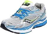 Saucony Women's Power Grid Triumph 9 Running Shoe,White/Blue/Silver,9.5 M US