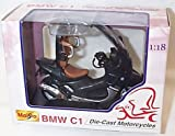 Maisto BMW C1 charcoal black motorcycle 1.18 scale diecast model