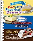 3 Books in 1: Jello and Cool Whip Favorite Desserts, Bakers Dessert for Chocolate Lovers, Philadelphia Cheesecakes and More