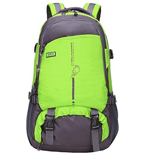 All'aperto alpinismo Borsa nylon impermeabile viaggi sport borsa scuola borse borse a tracolla per uomini e donne 36L , green